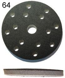 125mm 5 Löcher Weich Interface Pad Haken /& Öse Schleifscheibe Schleifmaschine